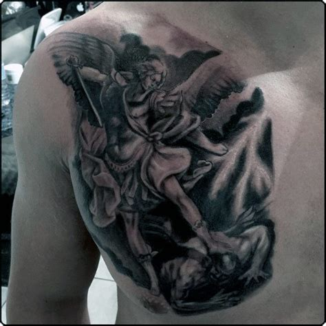 tattoo st michael angel 75 st michael tattoo designs for men archangel and prince