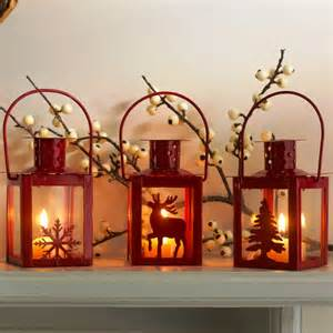 decorations cool red candle lantern christmas