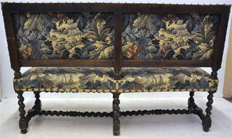 Antique Banquette by Antique Walnut Barley Twist Banquette Sofa At 1stdibs