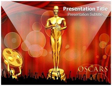 The Oscar Award Powerpoint Template Holds The Lady In Awards Ppt Templates Free