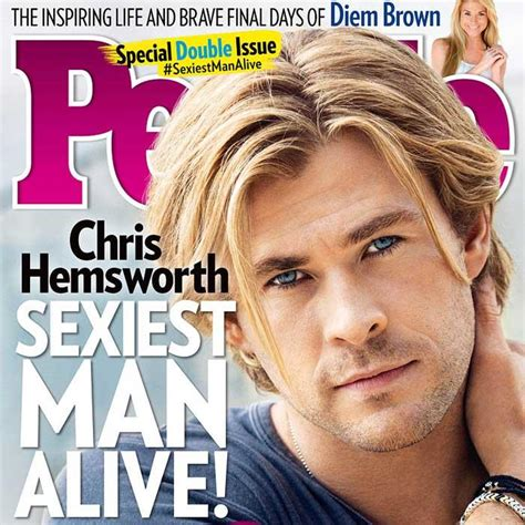 Chris Hemsworth People S Sexiest Man Alive Shape Magazine Sexiest Alive Magazine Cover Template