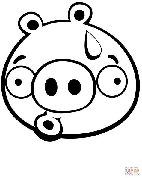 coloring pages of angry birds pigs disegno di maialino scoraggiato da colorare disegni da