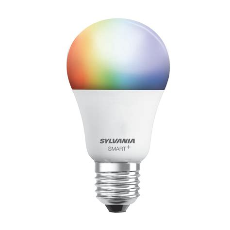 Coloured Led Light Bulbs Sylvania 60w Equivalent Multi Color And Adjustable White A19 Smart Led Light Bulb 73693 The