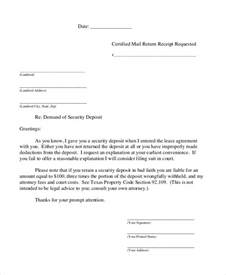 Demand Letter Return Of Security Deposit Demand Letter 15 Free Word Pdf Documents Free Premium Templates