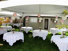 Simple Wedding Decorations For Home by Planning A Backyard Wedding