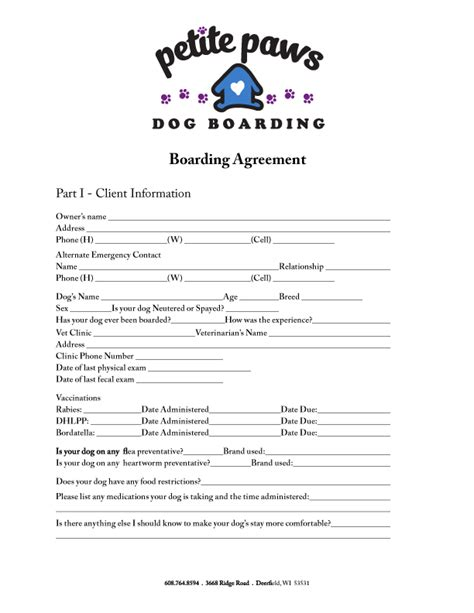 Funky Pet Sitting Contract Template Sketch Resume Ideas Namanasa Com Boarding Invoice Template