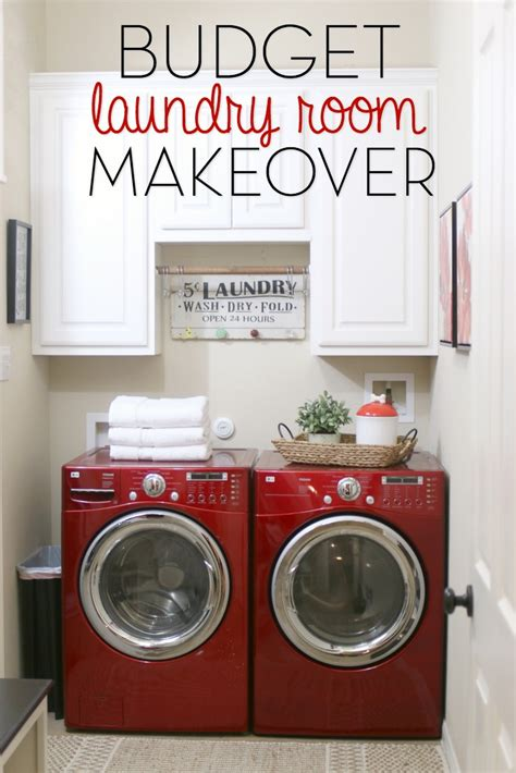 Decorating A Laundry Room On A Budget Budget Laundry Room Makeover