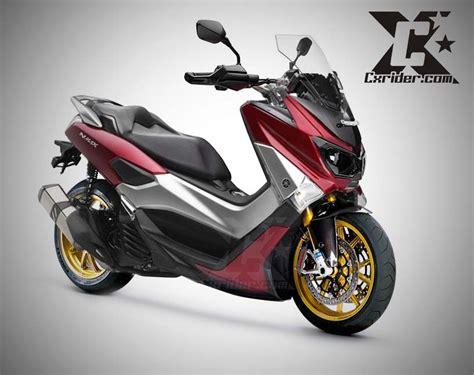 Sticker Motor Aksesoris Motor Aerox 155 Merah konsep modifikasi yamaha nmax makin ganteng maximal