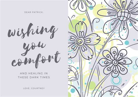 Customize 139  Sympathy Card templates online   Canva