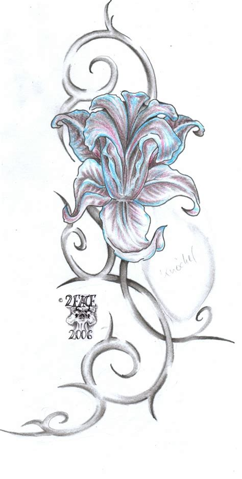 flower tattoo flash ideas on