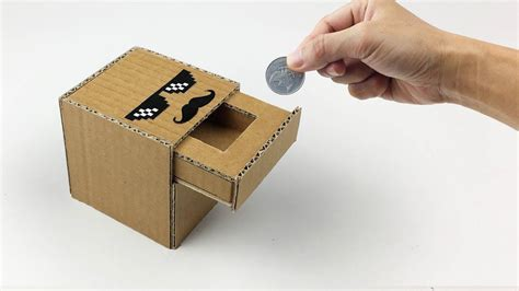 bank box how to make coin bank box from cardboard