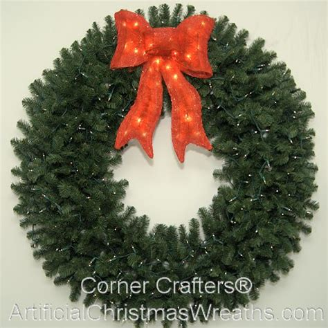 60 inch lighted outdoor christmas wreath 60 inch lighted wreath cornercrafters wreaths