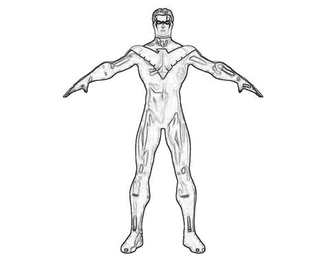 coloring pages nightwing nightwing coloriage coloring home