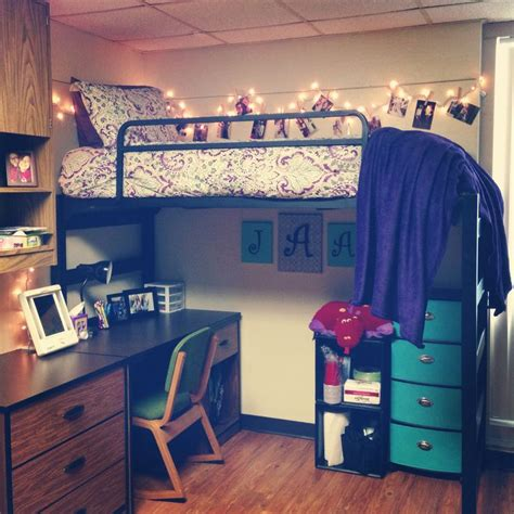 lofted bed dorm dorm room ideas and must have essentials the natural