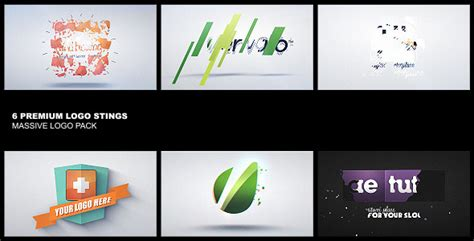 videohive premium logo pack 6in1 after effects templates