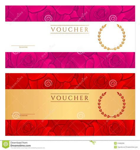 gift certificate template illustrator gift certificate voucher coupon reward gift card