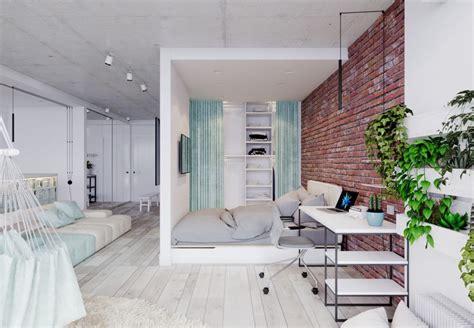 Unique Design Apartment | 4 bright studio apartments with creative bedroom placement