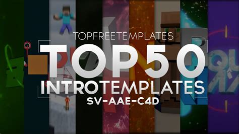 Best Top 50 Free Intro Templates 2015 Sv Aae C4d Youtube Top Free Templates
