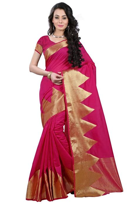 rani pink colour buy rani pink woven kanchipuram silk saree with blouse online