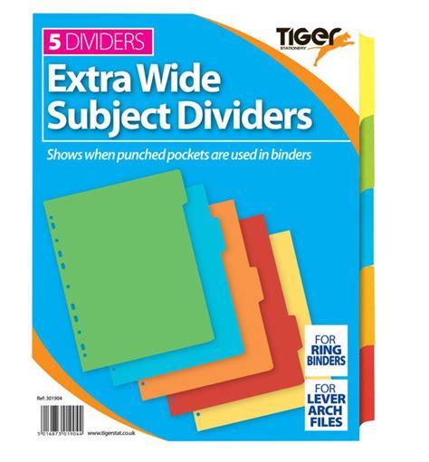 binder section dividers offer tiger stationery ring binder folder section