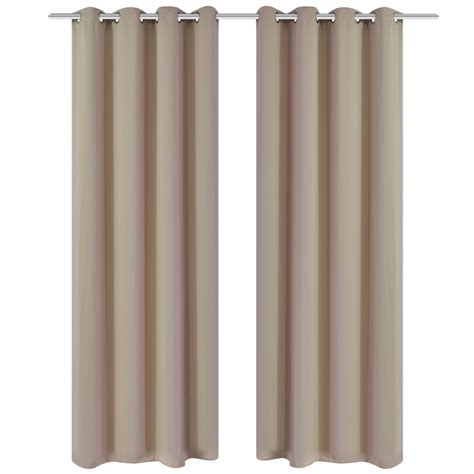 cream blackout curtains affordable variety cream blackout curtains with metal