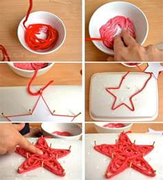 glue soaked yarn ornaments diy cozy home