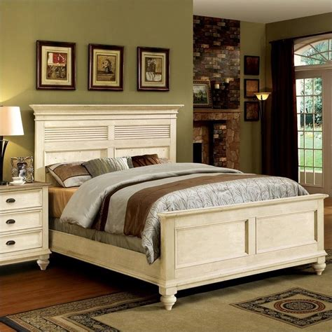 White Shutter Bedroom Furniture by Riverside Furniture Coventry Shutter Panel Bed In Dover