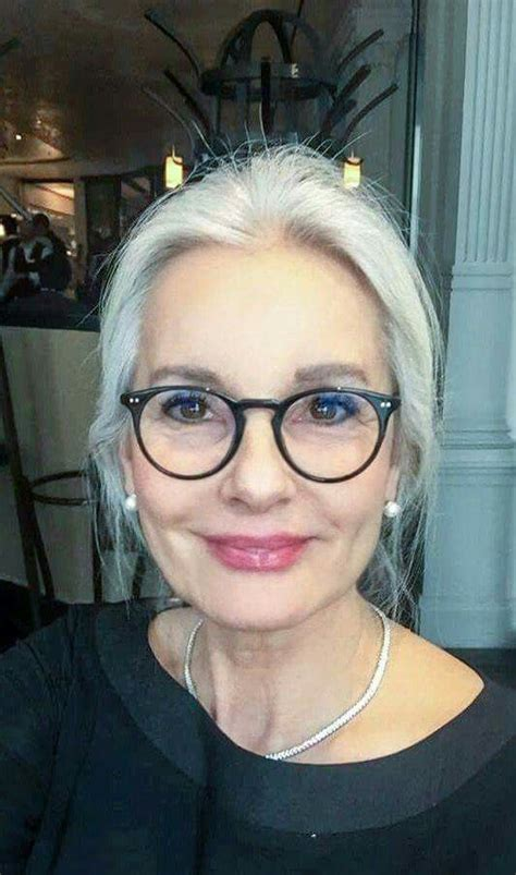 gray hairstyles with glasses 712 best beauty in gray white or silver images on pinterest