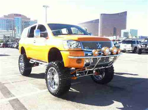 custom lifted nissan armada buy used custom lifted showtruck lambo orange nissan