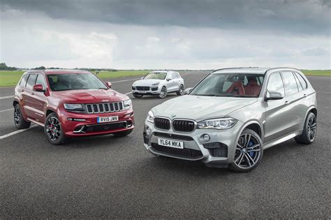porsche jeep jeep grand srt vs porsche cayenne turbo s vs bmw