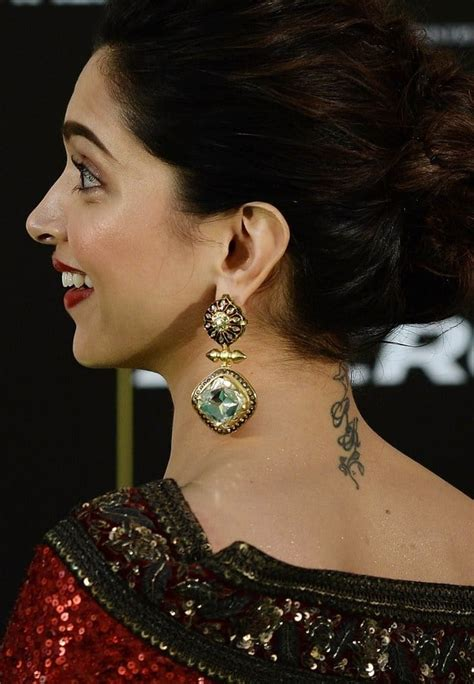 deepika padukone tattoo 10 beautiful their tattoos sheideas