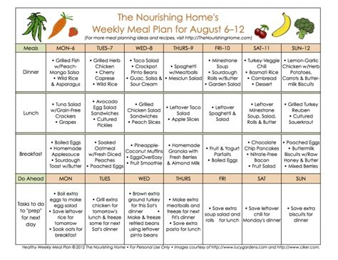 free printable school menu calendar menu templates
