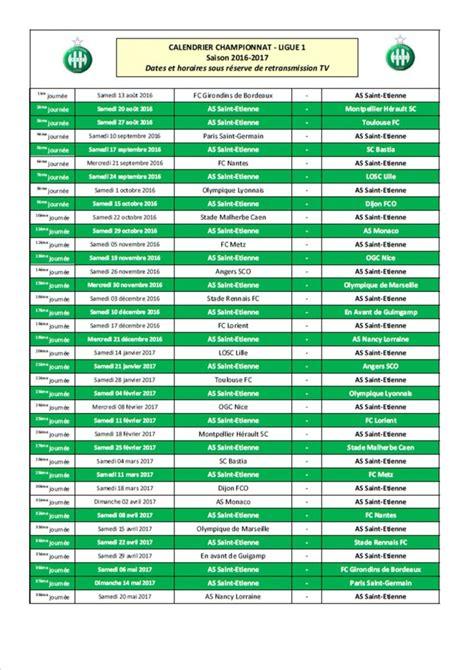 Calendrier Ligue Des Chions Foot Feminin Calendrier Saison 2016 2017 Asse Business