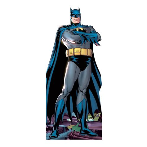 Batman Wall Murals arms folded lifesized batman cartoon standup