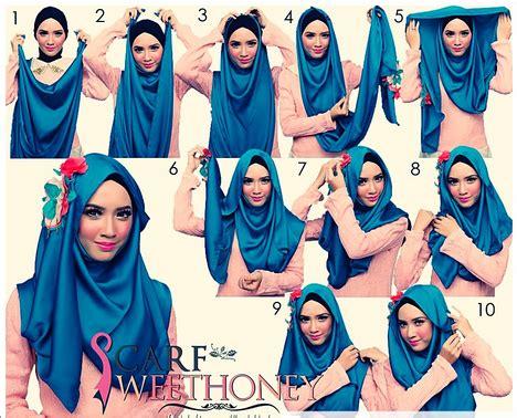 Hiasan Jilbab cara praktis memakai jilbab dengan hiasan headband kumpulan contoh kreasi modern terbaru