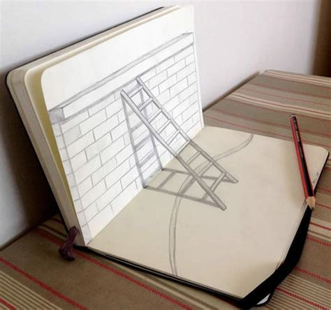 How To Make 3d Sketch On Paper - 3d sketches three dimensional xcitefun net
