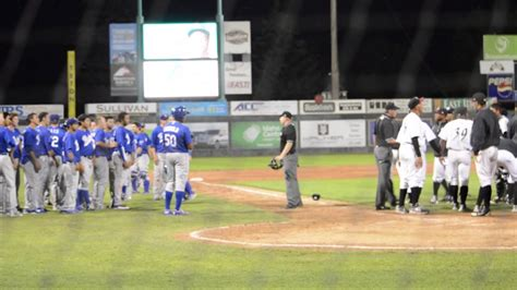 bench clearing baseball baseball bench clearing brawl chukars vs raptors youtube