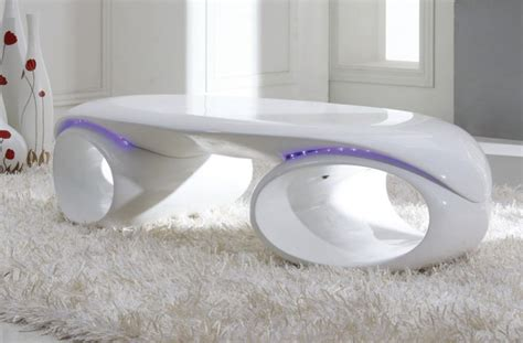 tron contemporary glossy coffee table w led lights