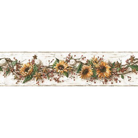 wallpaper borders design your own sunflower wallpaper border joy studio design gallery
