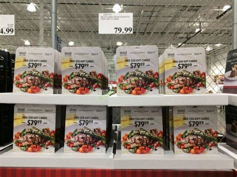 Restaurant Gift Cards At Costco - bravo brio restaurants 2 50 gift cards costcochaser
