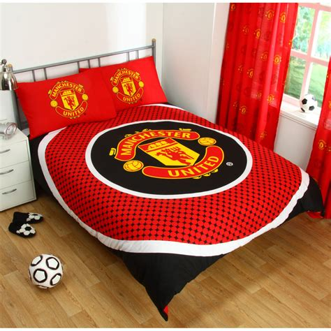 Sprei Bedcover Fc Manchester United manchester united fc single and duvet cover sets bedroom bedding free p p ebay