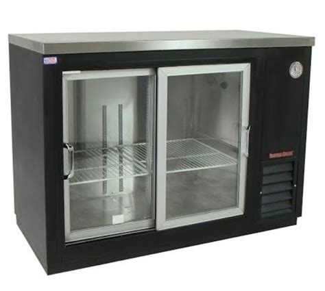 Back Bar Coolers With Glass Doors Universal Coolers Bb72g Back Bar Cooler Glass Sliding Doors 72 Quot