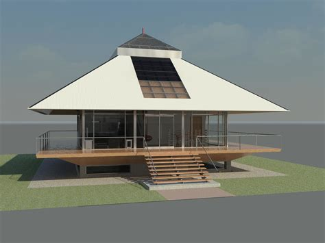 3d chalet house design revit