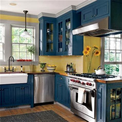 blue color kitchen cabinets editors picks our favorite cottage kitchens cabinets