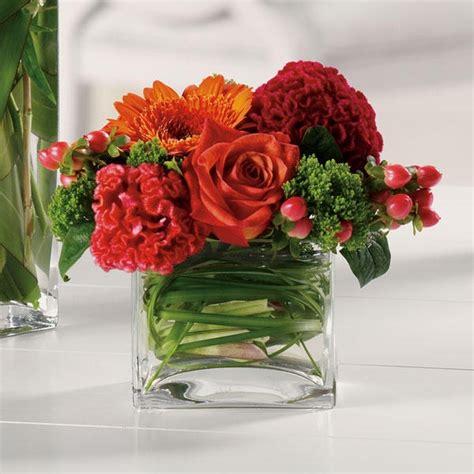 Flowers In Square Vase by Square Vases Floral Arrangements