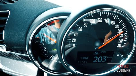 mini clubman cooper  top speed acceleration youtube