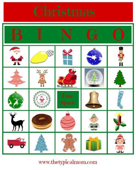 printable holiday bingo games christmas bingo printable 183 the typical mom