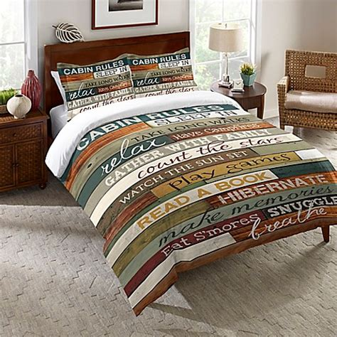 cabin bedding laural home 174 cabin comforter in brown bed bath