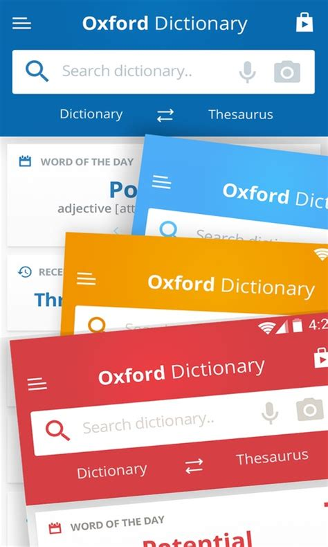 free dictionary for android free oxford dictionary of and thesaurus apk for android getjar