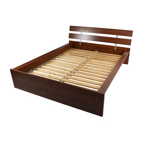 64 Off Ikea Ikea Brown Queen Bed Frame Beds Furniture Bed Frame